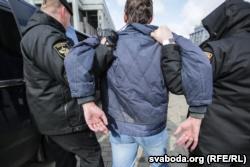 Задержание в Минске 25 марта 2017 года.