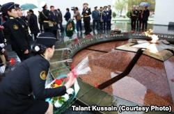 На праздновании 20-летия военно-морского флота Казахстана. Актау, 13 апреля 2013 года.