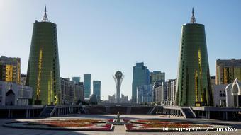 Астана, вид на Байтерек